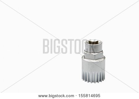 Bicycle bottom bracket tool isolated on a white background