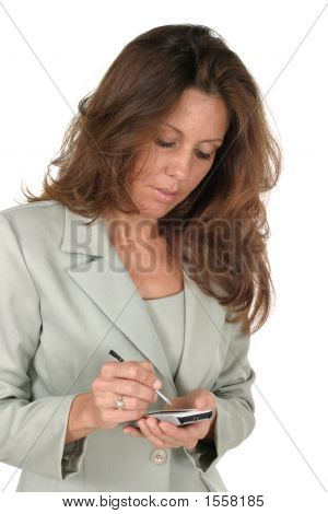 Business Woman Using Pda 1