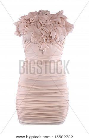 Powdery Color Cocktail Designer Dress