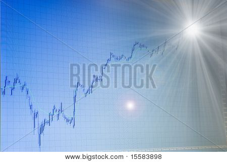 Growing Forex Chart With Light In The End