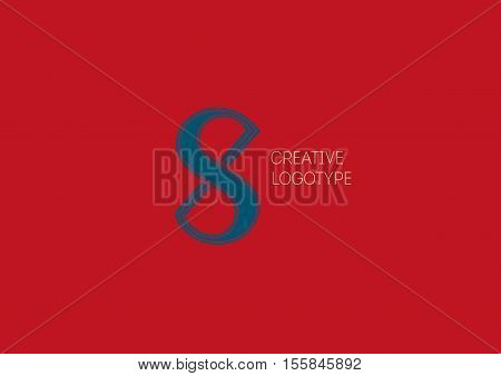 Creative logo with a double meaning, the letter X , S