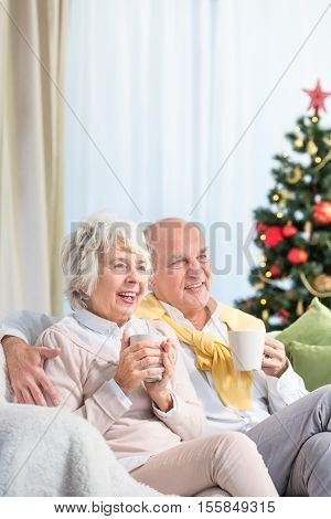 Seniors Spending Christmas Evening Together