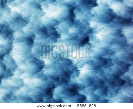 Blue abstract background in the form of frozen snow