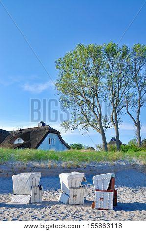 Beach of Ahrenshoop on Fischland-Darss Island,baltic Sea,Mecklenburg western Pomerania,Germany