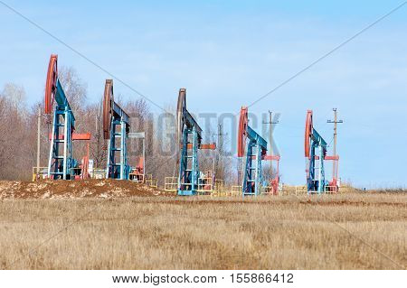 ecology bionomics. Oil pumps. Oil industry equipment. Beam Pumping unit oil and gas