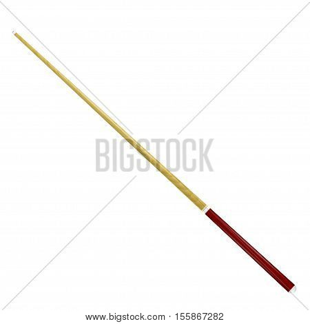 Billiard cue isolated on a white background