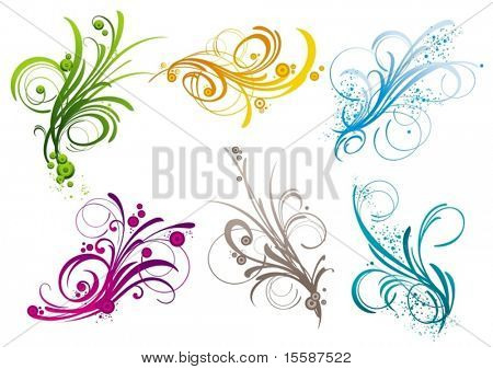 Branches vector design elements