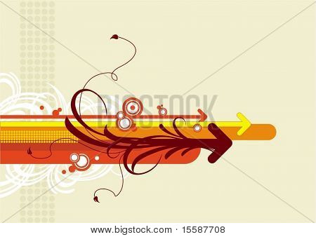 Abstract background with arrows