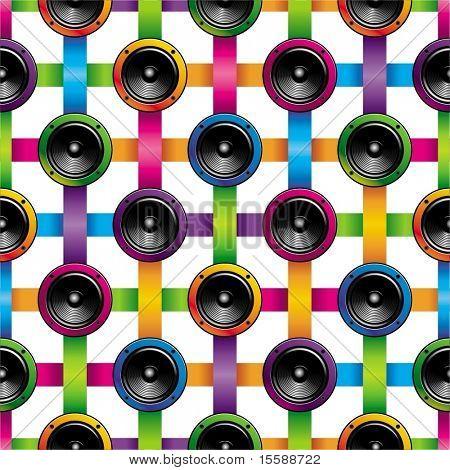 Seamless background of loudspeakers