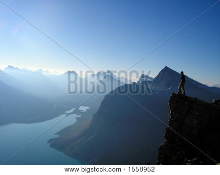 High Above Bow Lake, Banff National Park, Canada