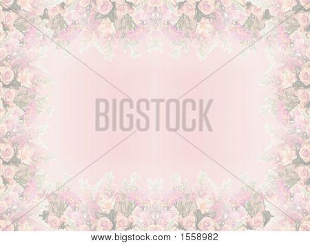 Elegant Pink Floral Border