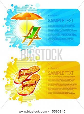 Beach resorts vector frames