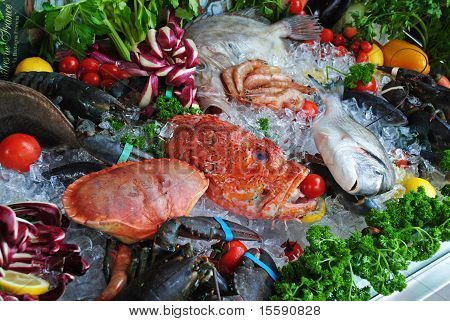 Fresh seafood at Venice, Italy