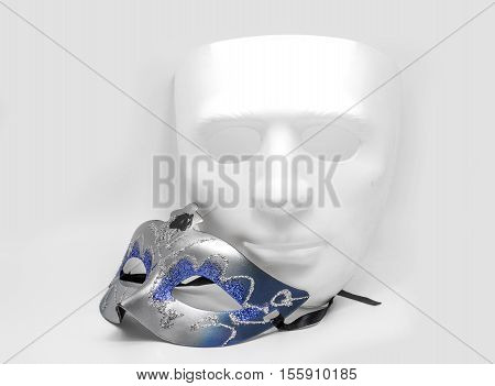 White Mask And Classic Half Mask