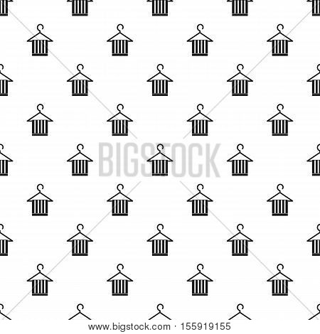 Scarf on coat hanger pattern. Simple illustration of scarf on coat hanger vector pattern for web