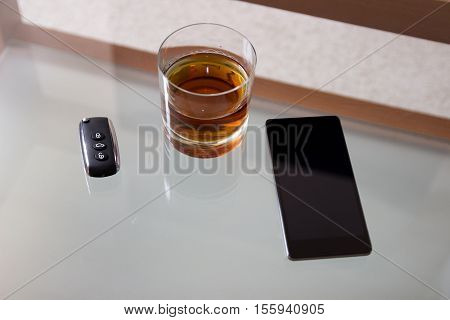 Drunk driving - the cause of car accidents. Drink driving.