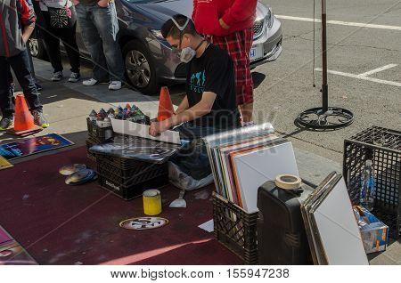 Street Artist, San Francisco, Usa