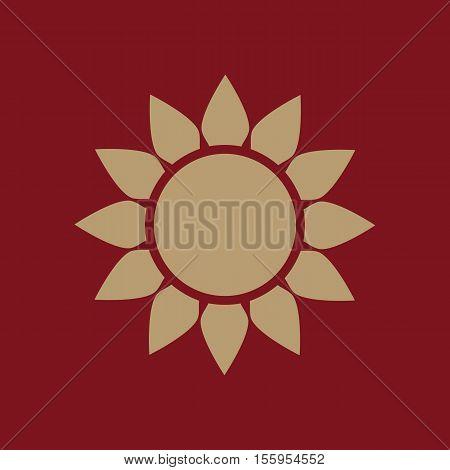 The weather icon. Sunrise and sunshine, weather, sun symbol. UI. Web. Logo. Sign Flat design App Stock vector