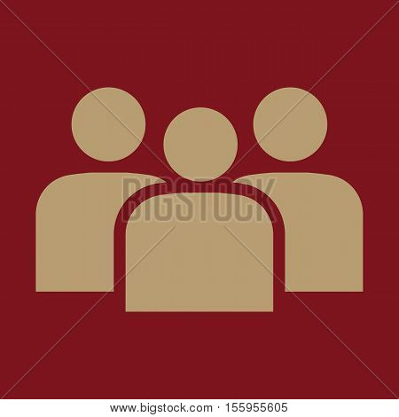 The management and teamwork icon. Team and group, teamwork, people, alliance, management symbol. UI. Web. Logo Sign Flat design App Stock vector