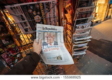 La Republica Magazine About Donald Trump New Usa President
