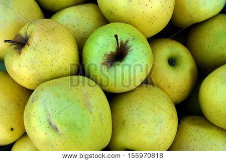 Bushel of Ripe Granny Smith Apples Background