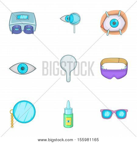 Vision icons set. Cartoon illustration of 9 vision vector icons for web