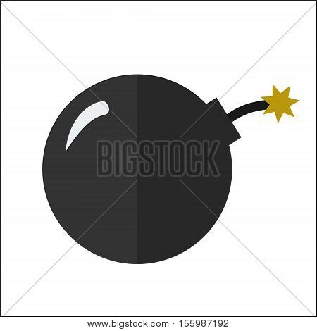 Cannon Ball Flat Icon Isolated Vector Illustration. Cartoon Symbol In Material Flat Style Design.