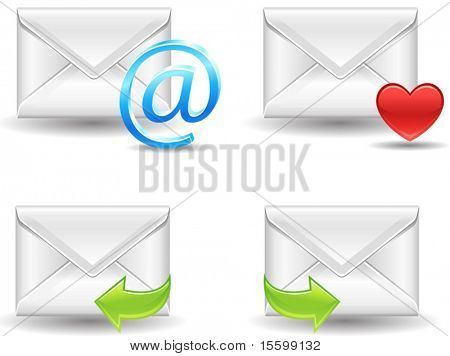 detailed vector mail icons, see also Image ID: 19902598