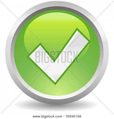 vector green accept button