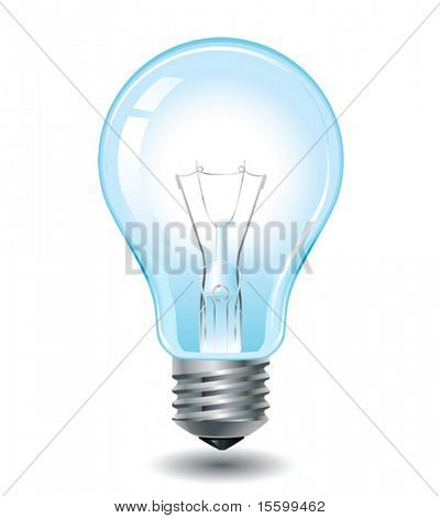 vector realistic light bulb