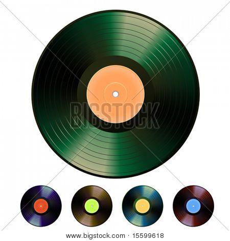 vector photorealistic vinyl set