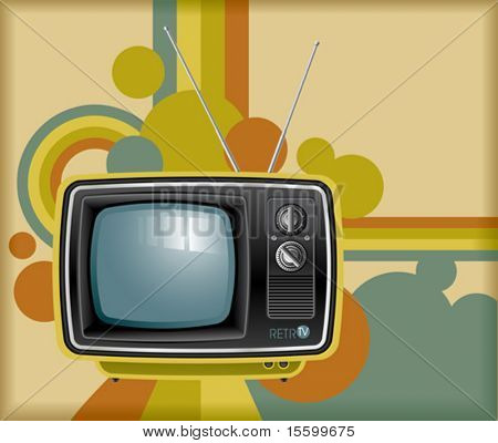 vector retro tv background
