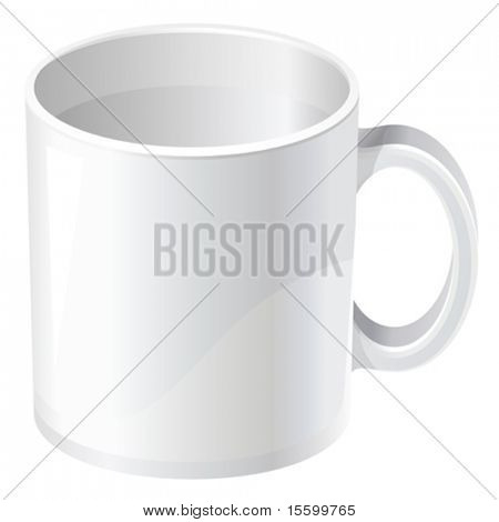 vector empty tea mug. There are VARIETY of tea things in my portfolio ;) Please take a look !