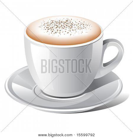 vector cappuccino coffee with cinnamon