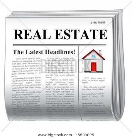 vector news icon. real estate