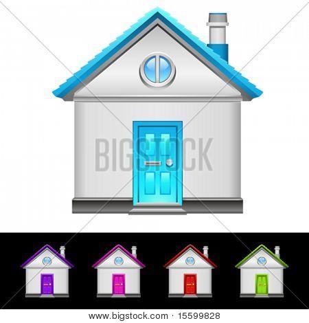 realistic vector home icon set
