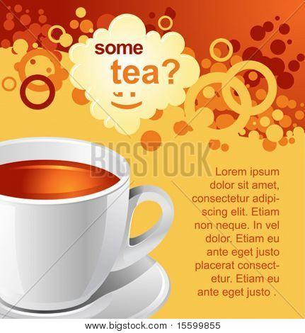 Vektor Tee Background für Ihre promotion