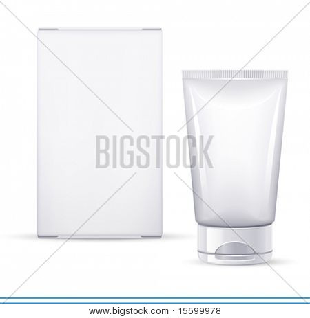 vector cosmetics container and box. There are VARIETY of white containers in my portfolio ;)