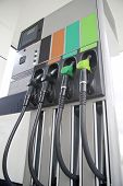 stock photo of fuel pump  - Pump petrol and diesel on background