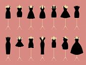 picture of dress mannequin  - Little Black Dresses - JPG