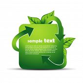 picture of reuse recycle  - vector recycle design illustration - JPG