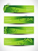 Постер, плакат: Эко набор заголовков с четырьмя различными стиль