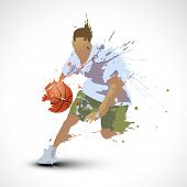 vector person playing basketball