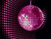 picture of club party  - vector background with disco ball for valentine - JPG