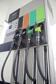 pic of fuel pump  - Pump petrol and diesel on background  - JPG