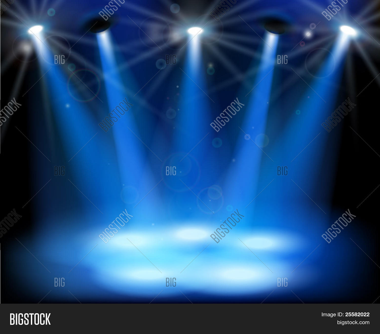 Stage lights. Vector illustration. Stock Vector & Stock ...