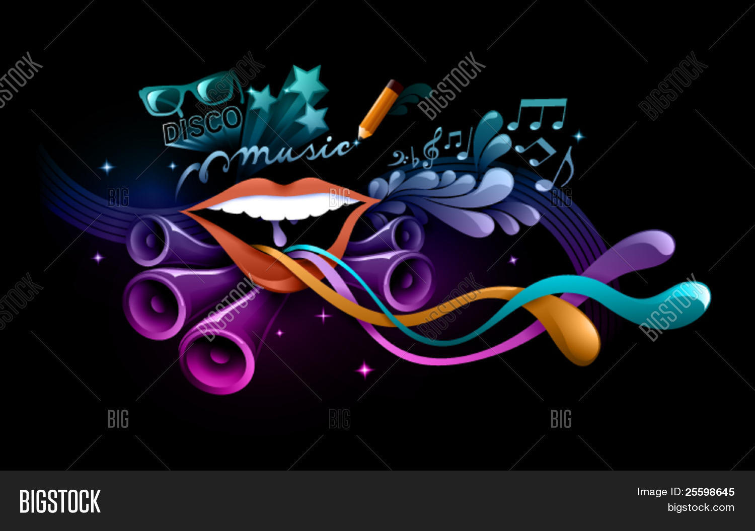 Funky Music Background Vector & Photo | Bigstock