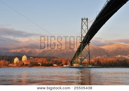 Lions Gate Bridge and Grouse Mountain