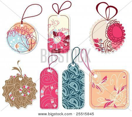 Floral tags collection