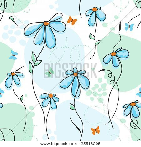 Cute nature seamless pattern